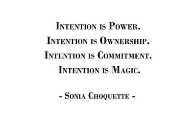 intention is magic quote